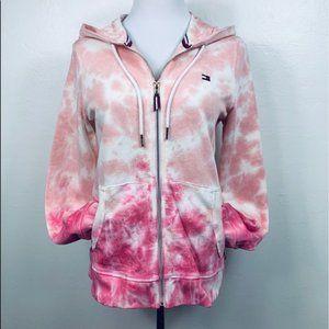 Tommy Hilfiger Tie Dye Sweatshirt Zip Hoodie Pink